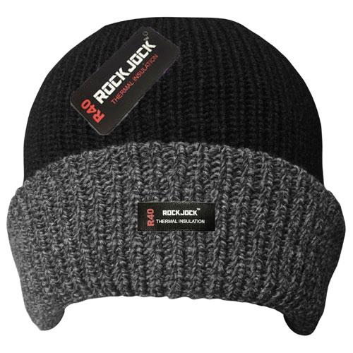 Mens Rockjock Hat Grey Turn Up