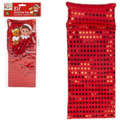 Red Sequin Elf Sleeping Bag With Pillow