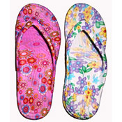 Ladies Floral Print Flip Flops