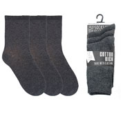 Kids Plain Cotton Rich School Socks Grey
