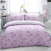 Paintly Unicorn Pink Reversible Duvet Set