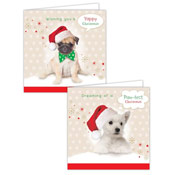 Puppy Design Christmas Cards