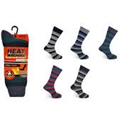 Mens Heat Machine Thermal Socks Stripes