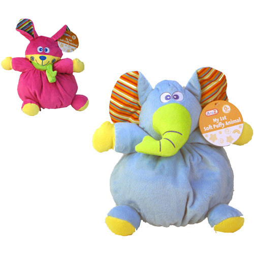 Baby Soft Puffy Animal Rattle Toy