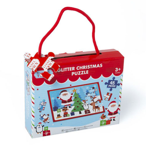 Christmas Glitter Puzzle 45 Pieces