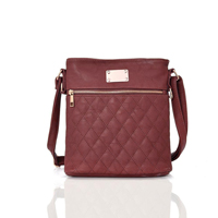 Maggie Quilted Cross Body Bag Red