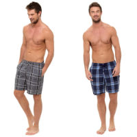 Mens Twin Pack Checked Shorts