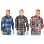 Mens Printed Flannel Check Shirt