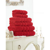 Supreme Cotton Hand Towels Red