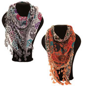 Fashion  Scarf Leila Skull Printed