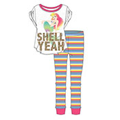 Official Ladies Little Mermaid Pyjama Set Shell
