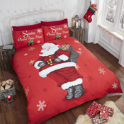 Please Stop Here Christmas Duvet Set