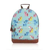 Unicorn Design Front Pocket Backpack Turquoise