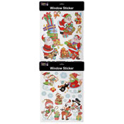 Santa And Snow Laser Christmas Window Stickers