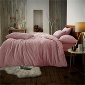 Super Soft Teddy Feel Duvet Set Pink