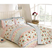 Rise And Shine Pink Duvet Cover Set