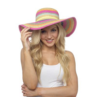 Ladies Stripe Summer Hat