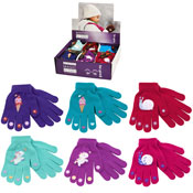 Girls Magic Gripper Gloves With Rubber Print