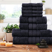 Luxurious 8 Piece Towel Bale Set Black