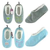 Ladies Drink Motif Design Slipper Socks