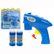 Large Friction Bubble Gun With 2 Bubble Tubs