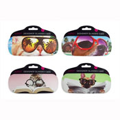 Novelty Design Glasses Case with Cool Pets Print