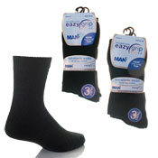 Eazy Grip Plain Black Socks