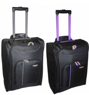Super Lightweight Cabin Luggage Travel Bag Grey/Purple