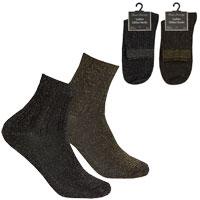 Ladies 1 Pair Glitter Socks Black