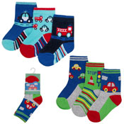Childrens Cars Design Cotton Rich Socks