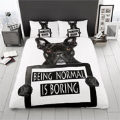 Bull Dog Panel Reversible Duvet Set