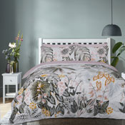 Botanical Tropics Green Reversible Duvet Set