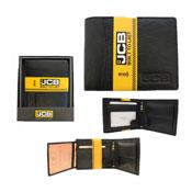 JCB Mens Leather RFID Blocking Wallet Black