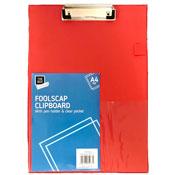 Red A4 Foolscap Clipboard