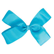 Fashion Hair Bow With Salon Style Clip Turquoise