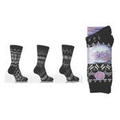 Dark Fairisle Thermal Socks