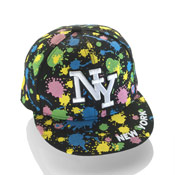 New York Snapback Baseball Caps Paint Splash