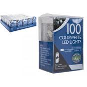 100 LED String Lights Cold White