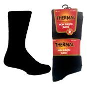 Mens Non Elastic Thermal Socks Black Carton Price