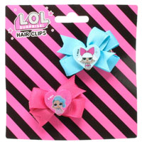 Official LOL Surprise 2pc Hair Clip Set with Bow