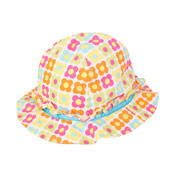 Baby Girls Bush Hats with Daisy Print