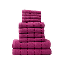 10 Piece Towel Bale Fuchsia Pink Egyptian Cotton