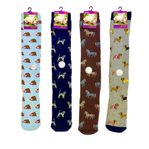 Ladies Super Soft Fully Cushioned Welly Socks Winter