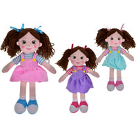 Rag Dolls in Dresses 35cm