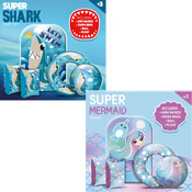 Shark/Mermaid Inflatable Super Swim Sets