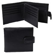 Real Leather Wallet With Zip Coin Pocket & Photo Sleeve