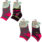 Ladies Sport Trainer Socks Hearts