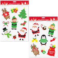 Christmas Santa Window Stickers