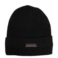 Adult Smooth Knit Hat With Thermal Lining