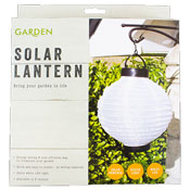 Large Solar Powered Chinese Lantern